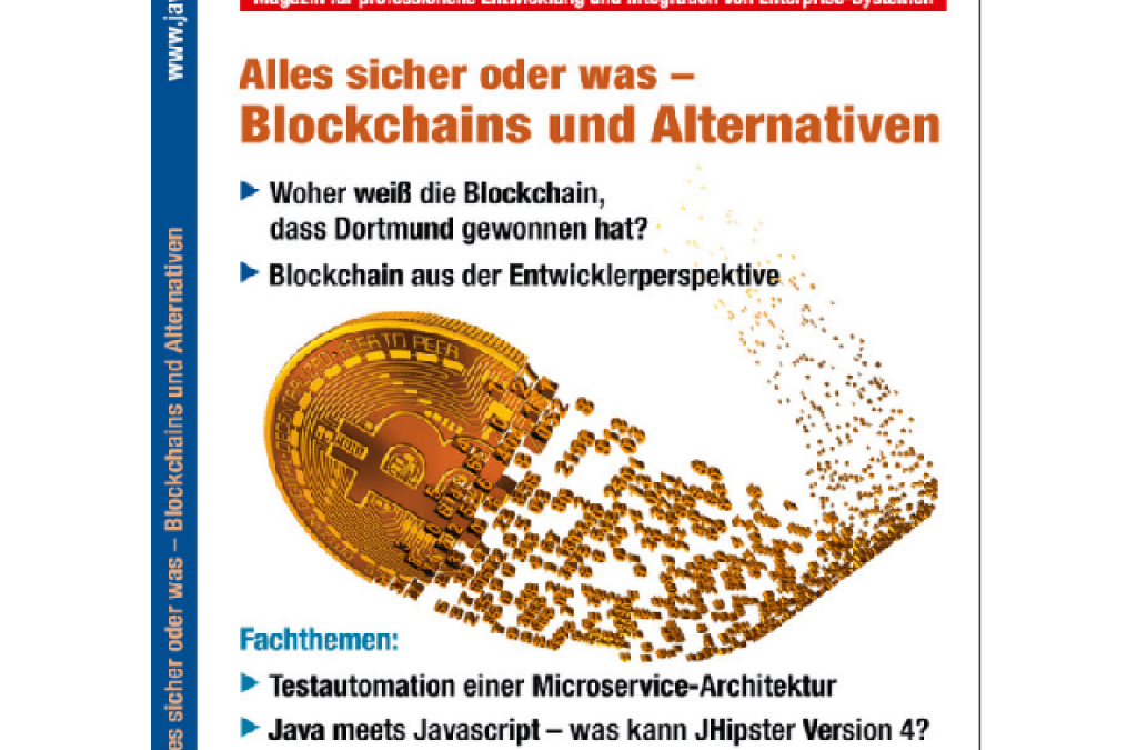 Digitaler Posteingangsstempel – Blockchain als spezialisierte Datenbank im Solution Stack